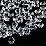 OUTUXED 1000pcs 0.4inch Clear Wedding Table Scattering Crystals Acrylic Diamonds Wedding Bridal Shower Party Decorations Vase