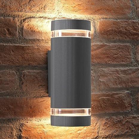 Up /& Down Wall Light Fitting Luminaire including 1.2-7 Watt GU10 LED BULB