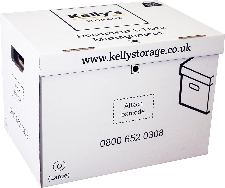 Kelly de almacenamiento multiusos archivo caja de cartón para guardar/ organizar documentos/A4 Archivos en el hogar, oficina o almacén (10 unidades): Amazon.es: Oficina y papelería