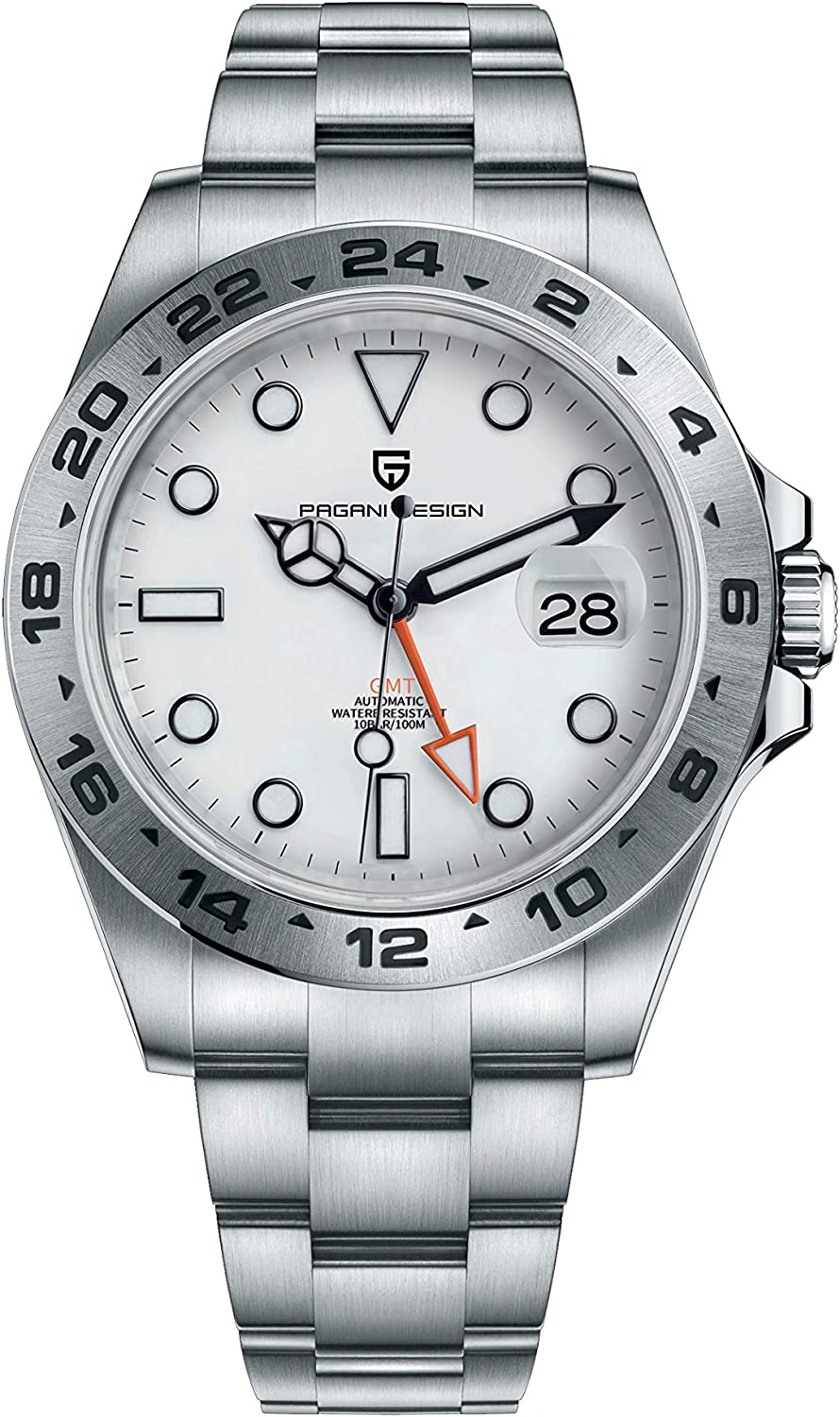Pagani Design GMT Men's Business Diving Watches Automatic Wrist Scratch Resistant Synthetic...