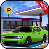 Sports Car Gas Station Parking