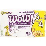 Wow! - Carta Igienica, 2 Veli - 6 Rotoli