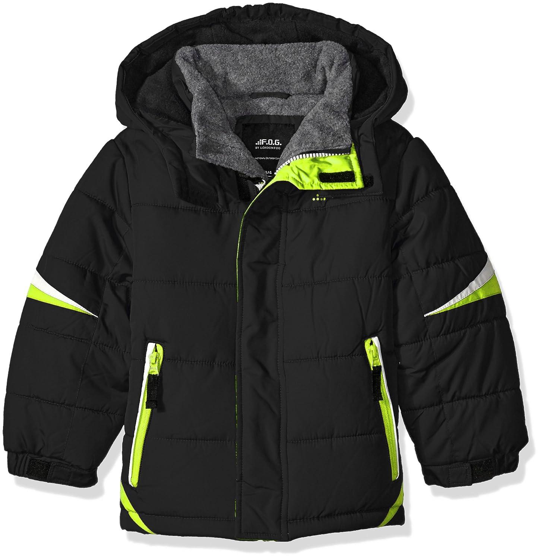 a8950664e Amazon.com  F.O.G. by London Fog Boys  Puffer Jacket with Contrast ...
