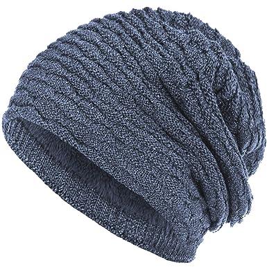 Compagno - Berretto in maglia - Tinta unita - Donna blu jeans taglia unica 345890383bb1