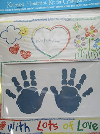 Amazon Com Keepsake Handprint Kit For Grandparents Memory Maker Baby