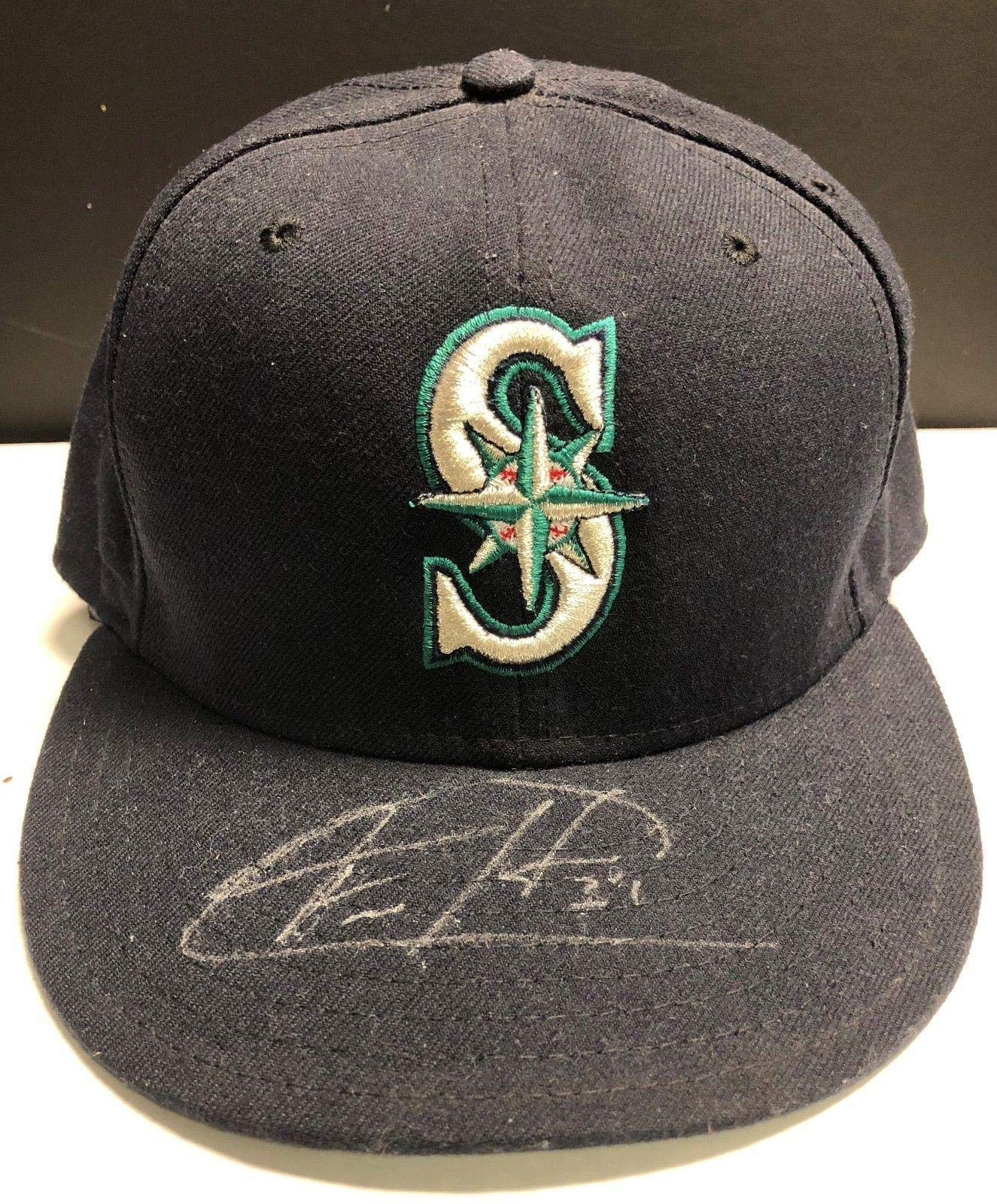 Felix Hernandez Signed Seattle Mariners New Era Fitted Hat AC65716 Auto PSA/DNA Certified Autographed Hats