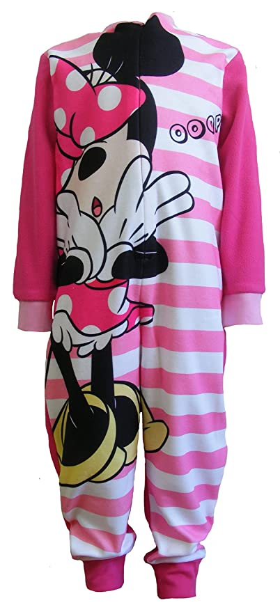 nuovo di zecca 0b207 f7f77 Disney Minnie Mouse - Pigiama Intero Manica Lunga in Pile-Bambine e ragazze