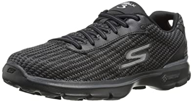 Go Walk 3 Fit Knit Womens Low-Top Sneakers Skechers