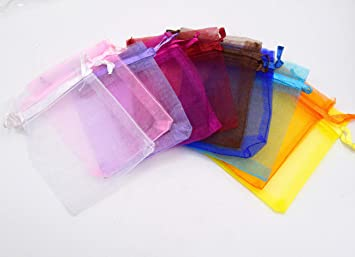 creatistshop - Set de 50 unidades bolsas Organza color mixta ...
