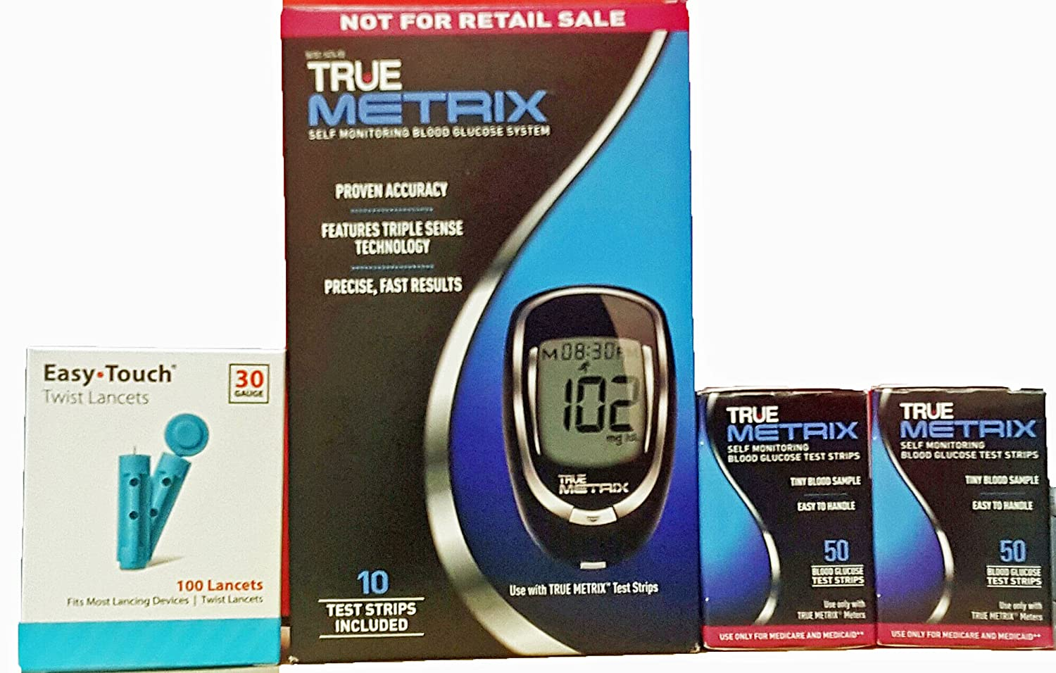 Amazon com: True Metrix Meter System with 100 lancets and