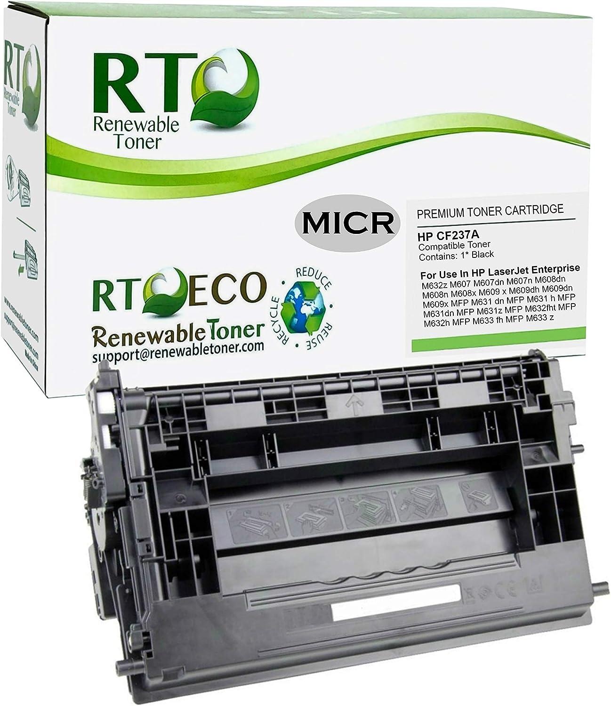 Renewable Toner Compatible MICR Toner Cartridge Replacement for HP 37A CF237A Laserjet Enterprise M607 M608 M609 M631 M632 M633…
