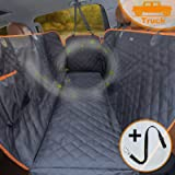 iBuddy Dog Seat Cover for Trucks with Mesh Window 100% Waterproof Pet Seat Cover Durable Dog Truck Hammock Machine Wahable X-