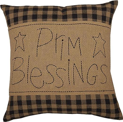 """throw pillow Farmhouse Stuffed Primitive black crow 16/""""x16/"""""""