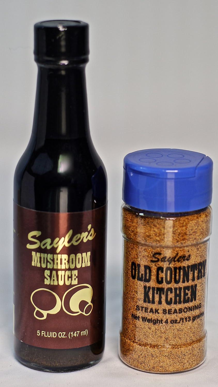 Amazon Com Sayler S Gourmet 3 Mushroom Steak Sauce And 2 Steak