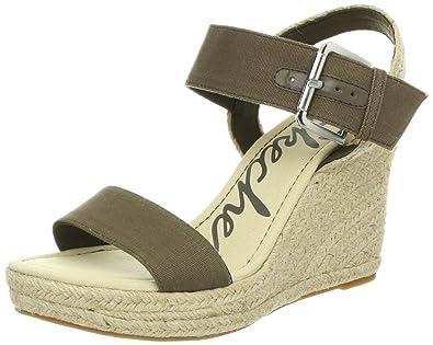 Skechers Cali Women's Polka Dottie Wedge Sandal,Khaki,10 ...