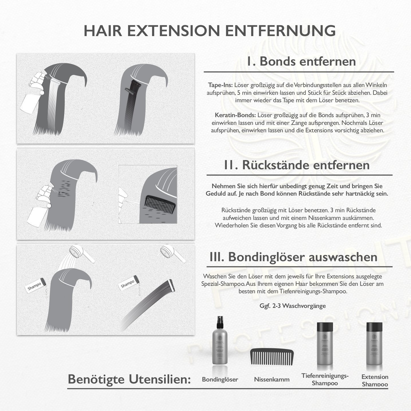 Bonding extensions entfernen