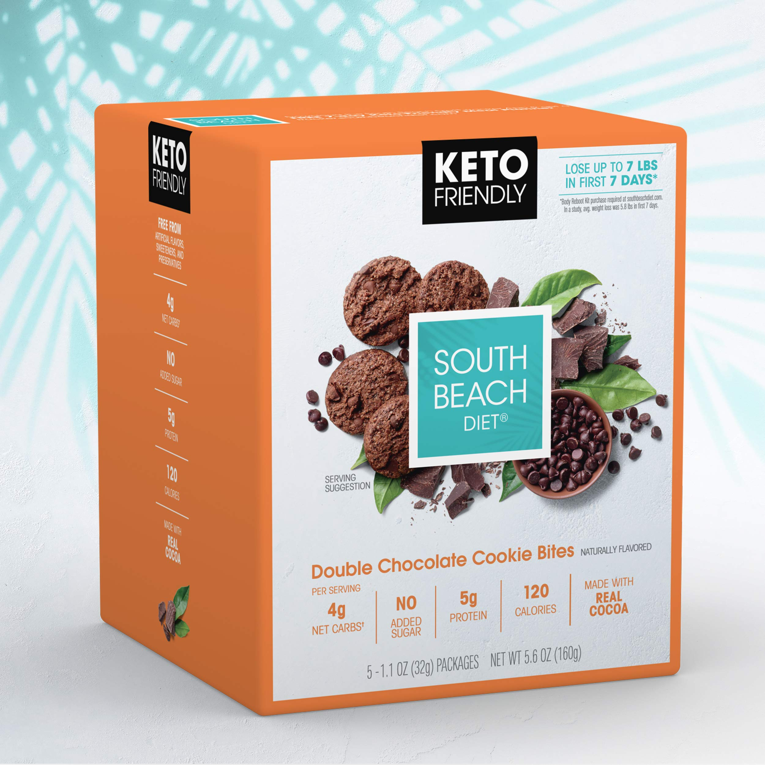 South Beach Diet® Double Chocolate Cookie Bites (20 ct) - Delicious Snacks Made to Support Healthy Weight Loss & Your Keto Lifestyle by South Beach Diet