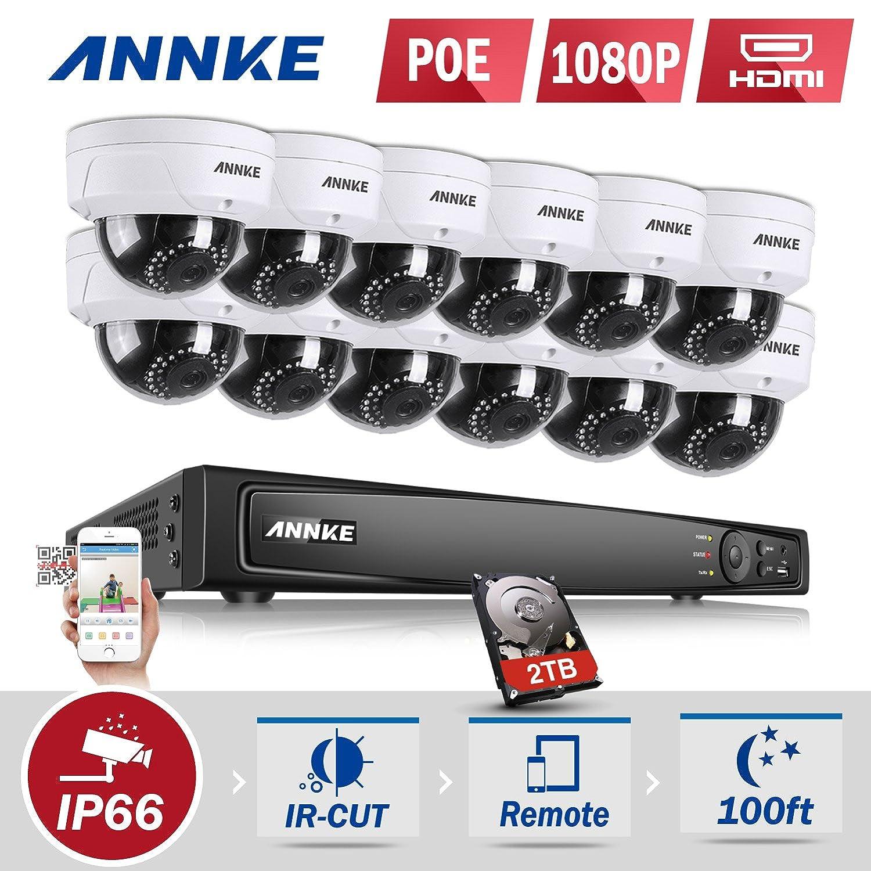 Amazon com : ANNKE Video Surveillance Kit 16CH 1080P POE NVR
