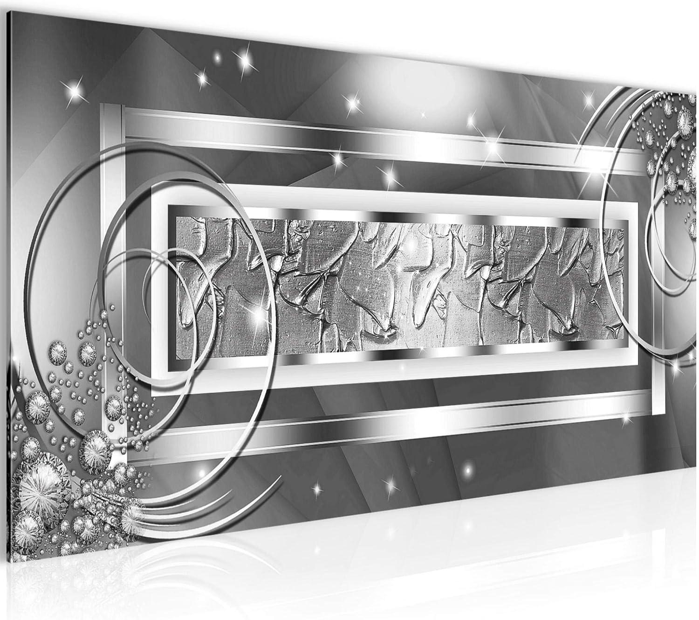 Cuadro abstracto Decoración de Pared 100 x 40 cm Forro polar - decoración de Pared tamaño XXL Salón Apartamento impresiones Artísticas Blanco 1 partes - 100% MADE IN GERMANY - listo para colgar 108012