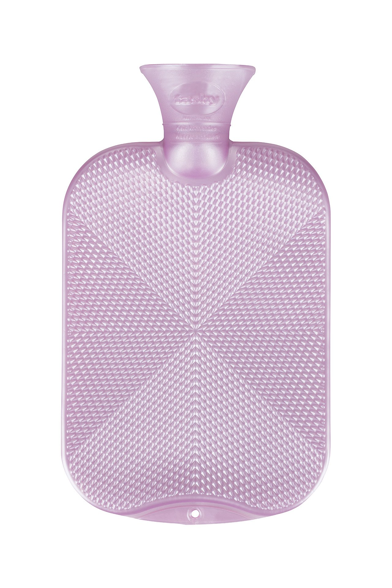 Fashy Rose Pink Crystal Star Textured Pattern Hot Water Bottle, Soothes Aches and Pains, Eases Stress, 2 Liter Capacity