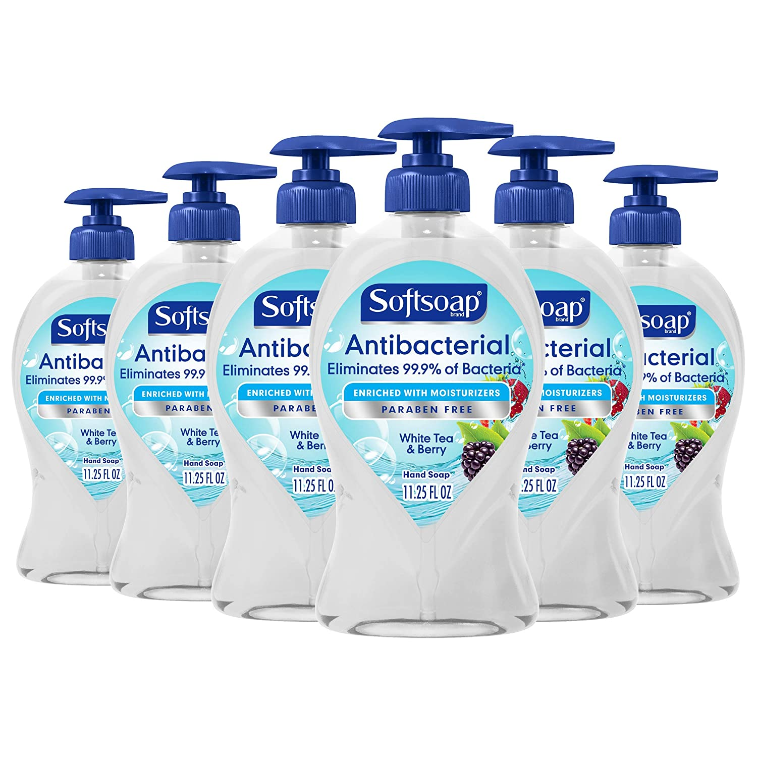Softsoap Antibacterial Liquid Hand Soap, Crisp Clean - 11.25 fluid ounces, 6-Pack