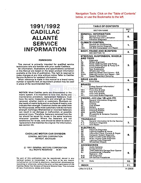 1987 cadillac allante wiring diagram wiring data u2022 rh nflzone co How Rare Is a 1989 Cadillac Allante 1989 Cadillac Allante Parts