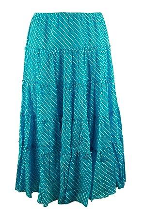 cb2cf38af Lauren Ralph Lauren Women's Plus Size Striped Tiered Skirt-TOW-2X at ...