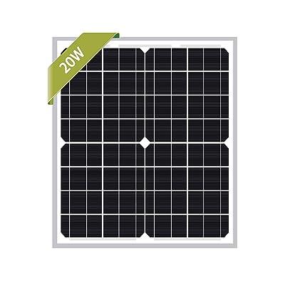 Newpowa 20W Monocrystalline 20 Watts 12v Solar Panel Module Rv Marine Boat Off Grid : Garden & Outdoor
