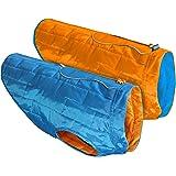 Kurgo Loft Jacket, Reversible Dog Coat, Dog Coat for Cold Weather, Water-Resistant Dog Jacket with Reflective Trim, Blue…