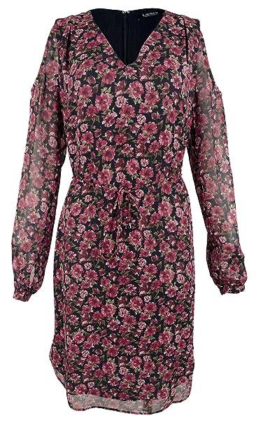 386e050ee8 LAUREN RALPH LAUREN Womens Ayunli Cold Shoulder Knee-Length Casual Dress at  Amazon Women s Clothing store