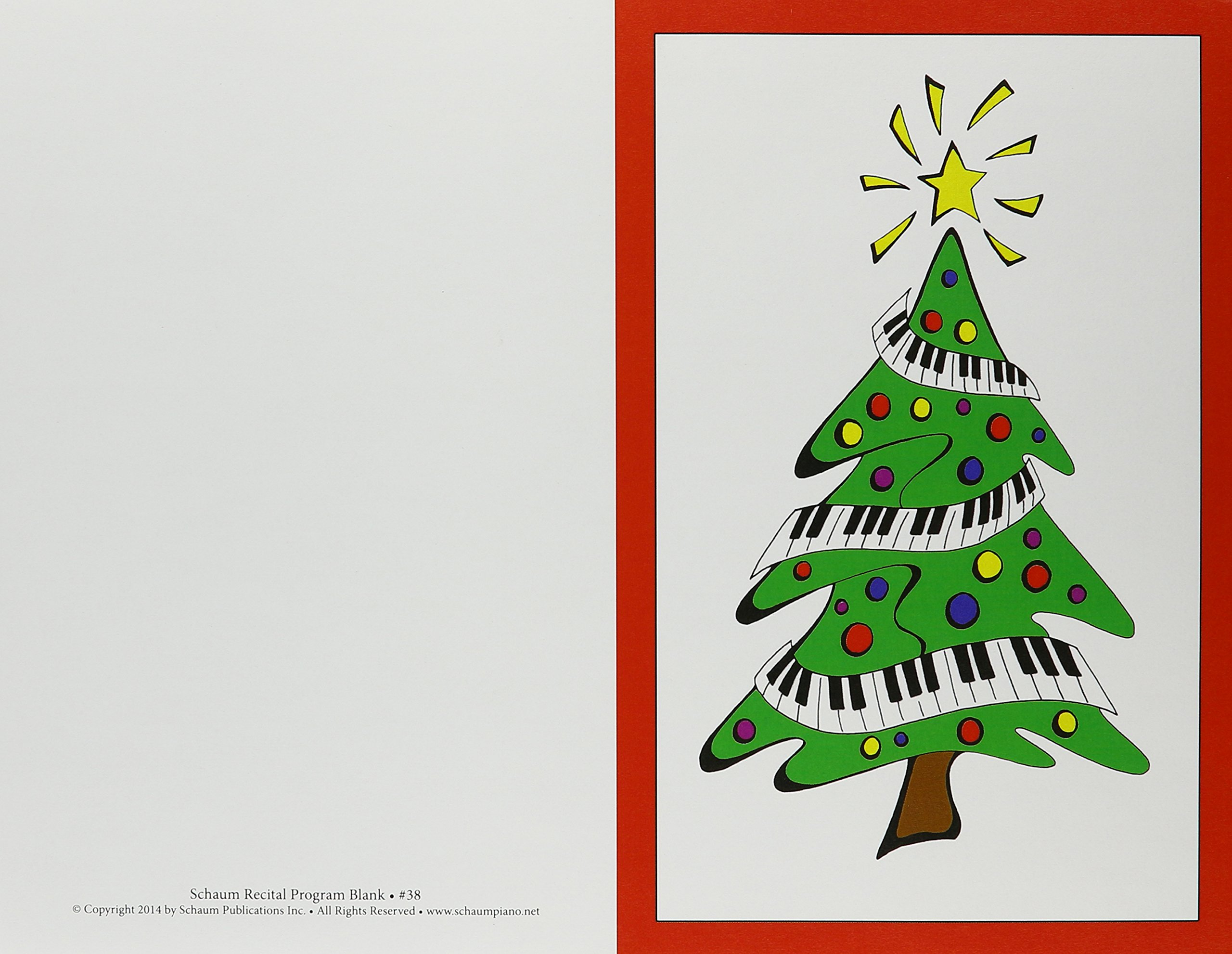 Recital Program #38 - 25 Pkg Keyboard Christmas Tree PDF ePub book