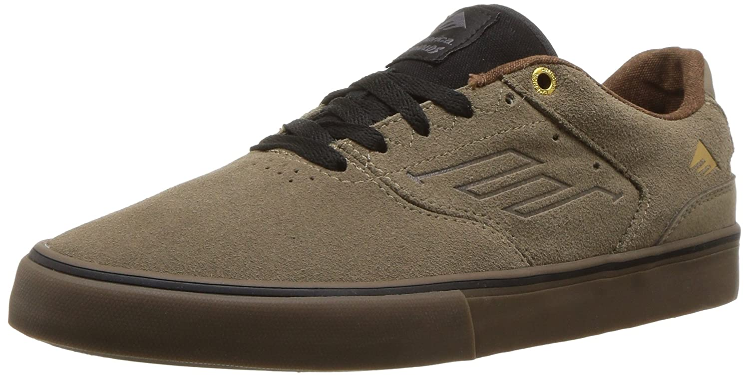 Emerica The Reynolds Low Vulc Skate Shoe 6.5 D(M) US|Olive/Black/Gum