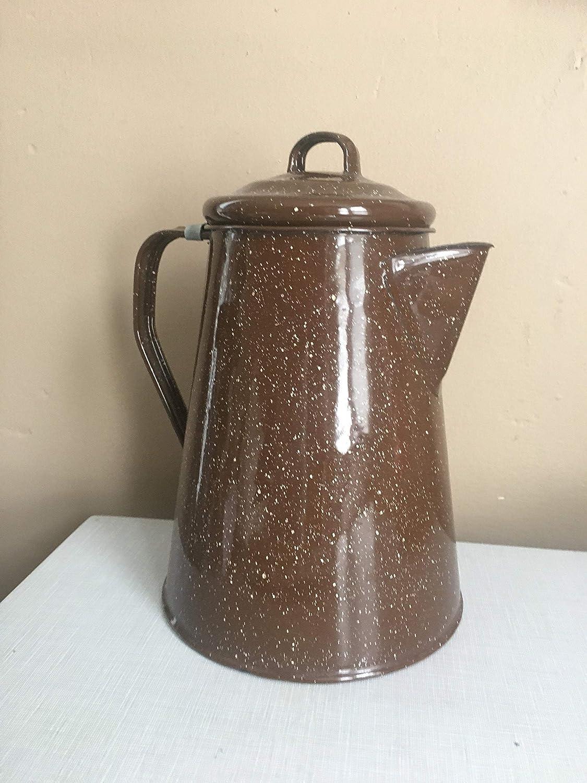 Vintage Enamel coffee or Tea Kettle