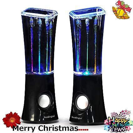 SoundOriginal 6 Watt Dancing Water Stereo Speakers (Black)
