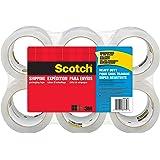 Scotch 重型运输包装胶带,7.62 厘米芯,1.88 英寸 x 54.6 码 无分配器 6 Rolls 透明
