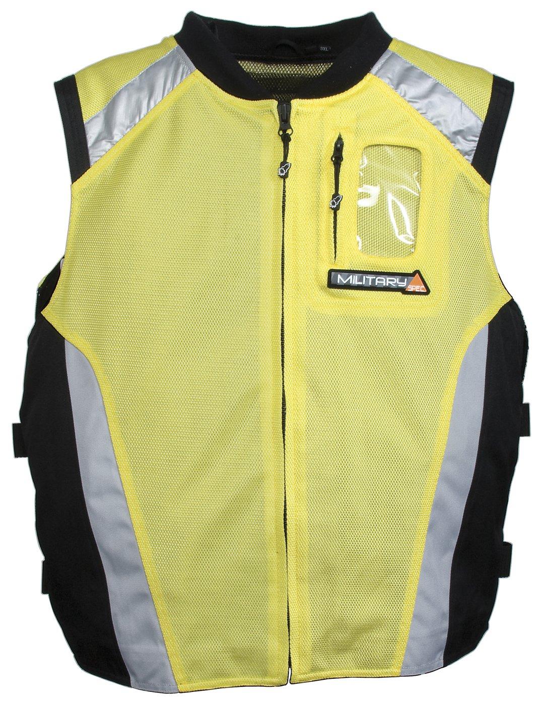 Joe Rocket Men's Military Spec Mesh Vest (Yellow, XX-Large/XXX-Large) 9052-1406