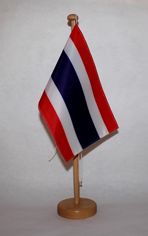 wahlweise mit oder ohne 42 cm Massivholz Thailand Tischflagge 15x25 cm in Profiqualit/ät Tischst/änder