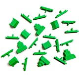 Settlers of Catan Compatible Replacement Board Game Pieces - Viking Empire - Single Player - Green - UPDATED COLOR