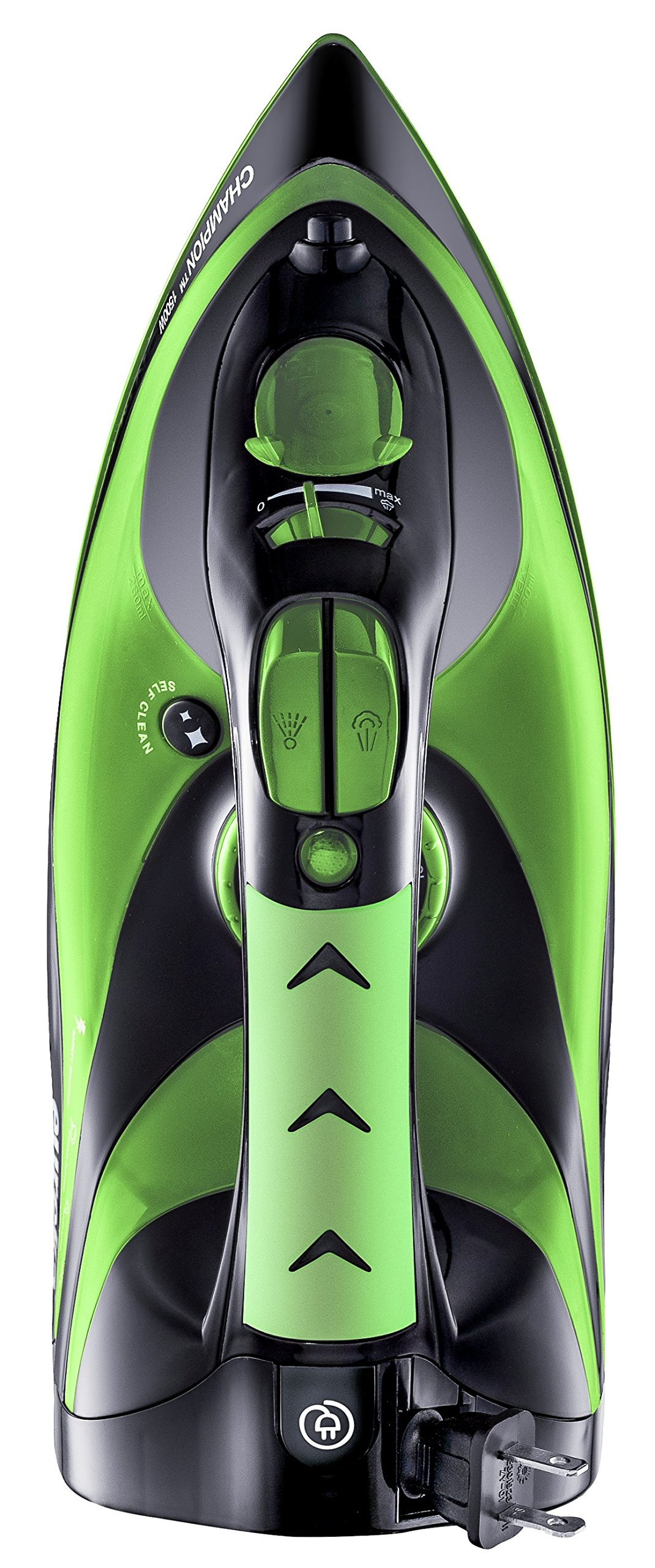 Eureka Champion Super-Hot Green 1500 Watt Iron Powerful Steam Surge Technology with 8ft Retractable Cord-Pouch Included