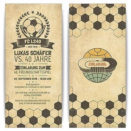 Tarjetas De Invitación Retro De Fútbol Vintage Invitación