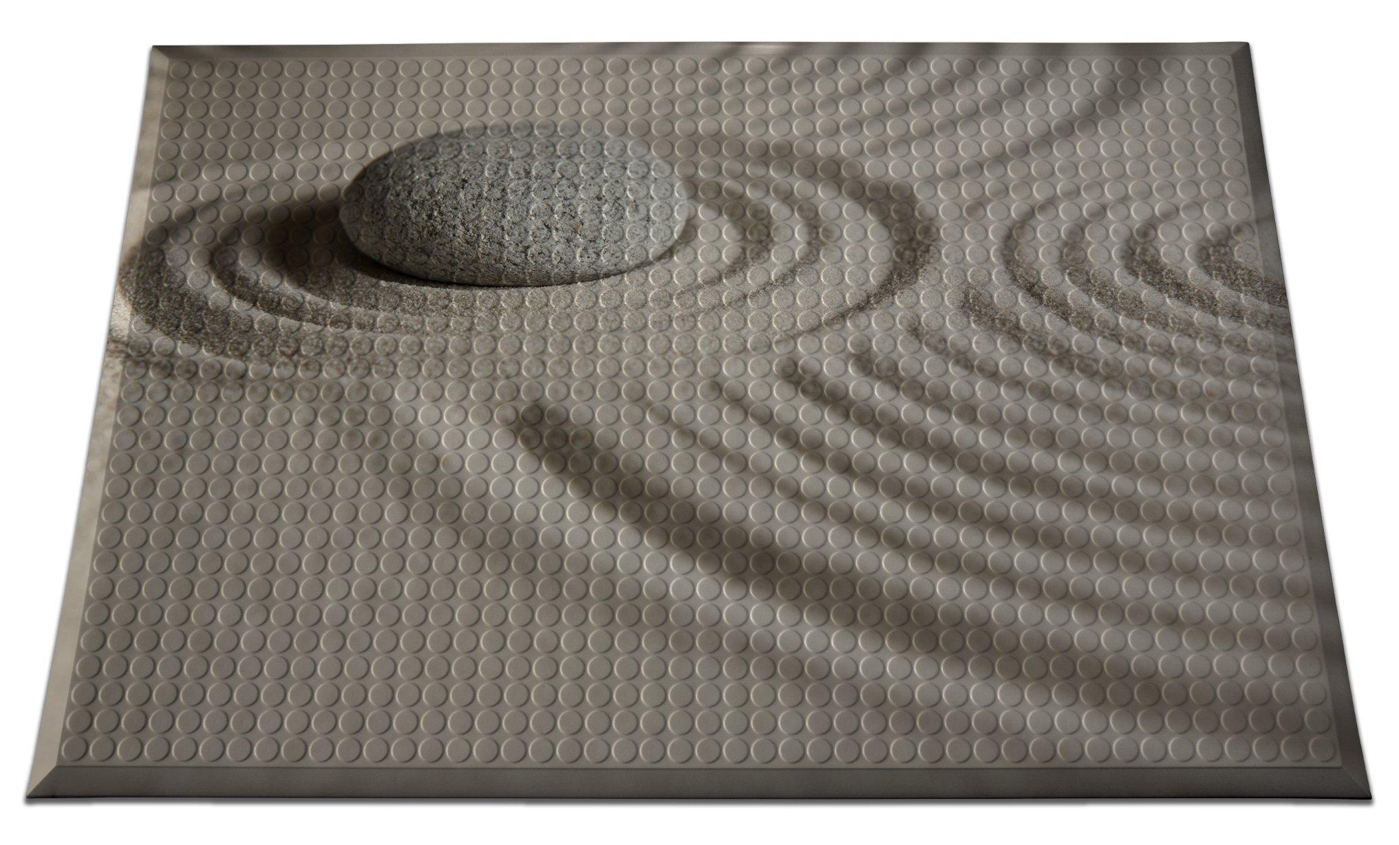 Ergomat INS-0203-06 Home Edition Anti-Fatigue Graphic Floor Mats, Zen Sand Smooth, 2' x 3' by Ergomat