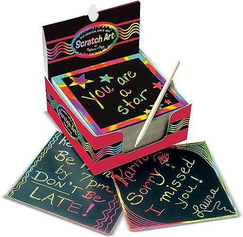 Scratch Art Box of Rainbow Mini Notes