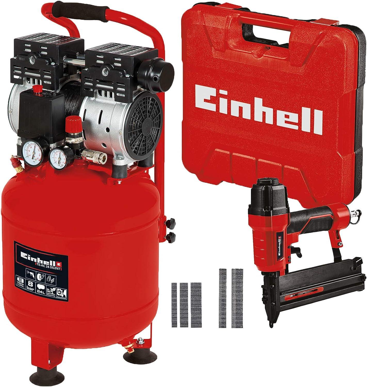 schwarz Einhell 4020610 TE-AC 24 Silent Kompressor rot 4137790 TC-PN 50 Druckluft-Tacker Pneumatic