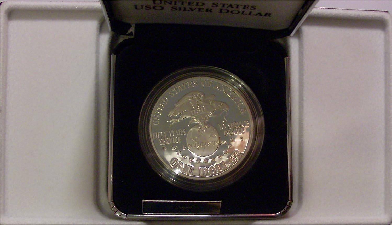 1991 USO 50th Anniversary Commemorative Proof Dollar PF-1 US Mint