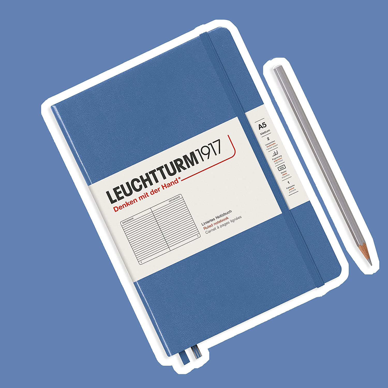 251 p A5 Medium Leuchtturm1917 Notebooks Hardcover Medium plain Bellini
