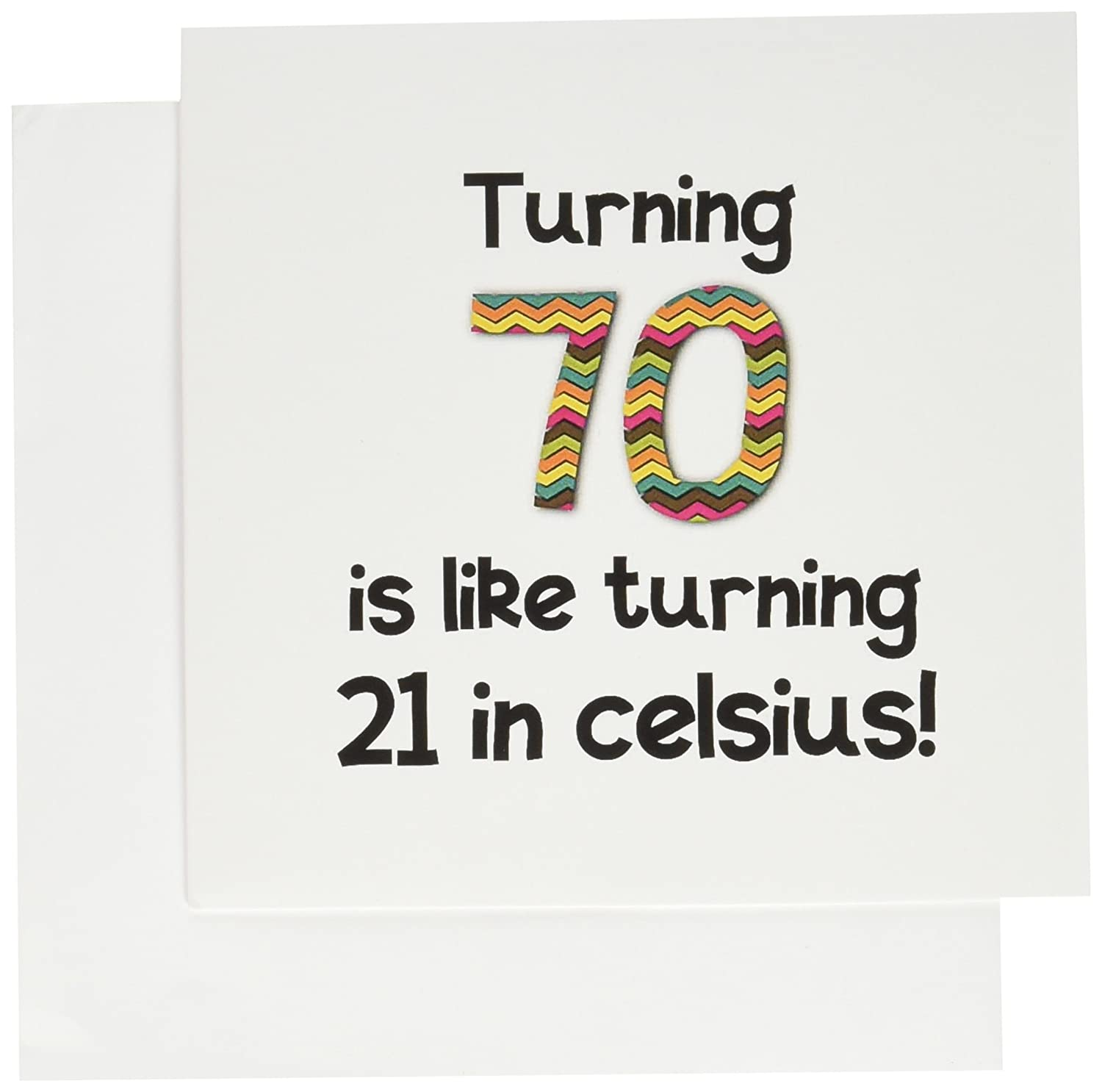 Amazon turning 70 is like turning 21 in celsius greeting amazon turning 70 is like turning 21 in celsius greeting card 6 x 6 inches single gc1849655 office products kristyandbryce Images