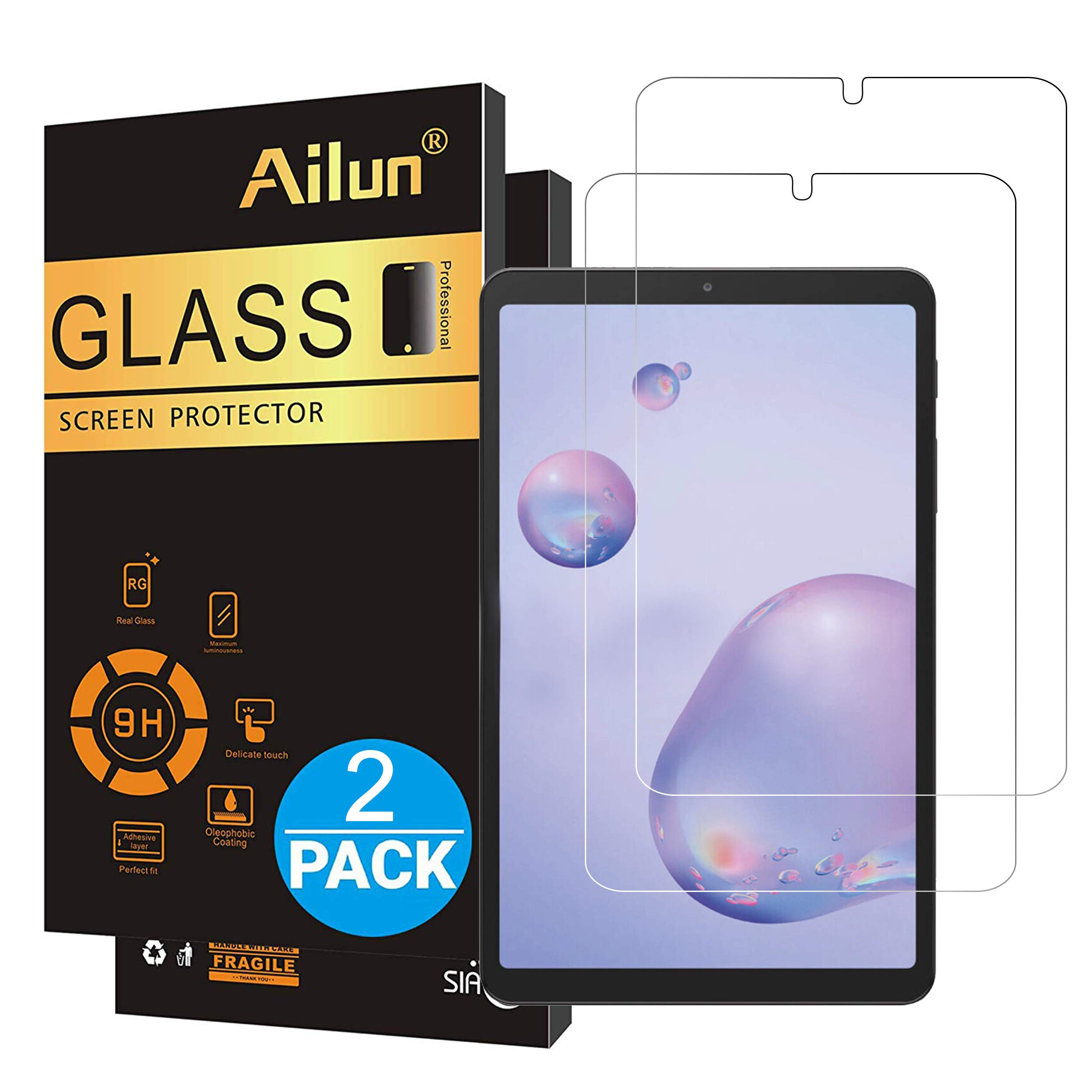 Ailun Screen Protector for Galaxy Tab A 8.4 inch 2020 Release 2Pack Tempered Glass 9H Hardness 2.5D Edge Ultra Clear Anti Scratch Case Friendly