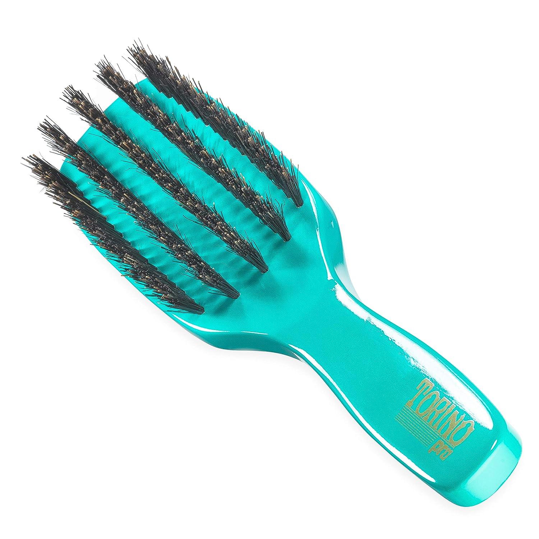 Torino Pro Wave Brush #1210 - By Brush King - Medium, 5 Row Spacer Long Handle 360 Waves Brush