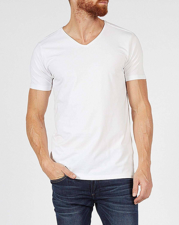 0792b467d999 Petrol Industries - Lot de 2 Tee-Shirts Homme Basic Blanc col V - Couleur   Blanc - Taille  XXL  Amazon.fr  Vêtements et accessoires
