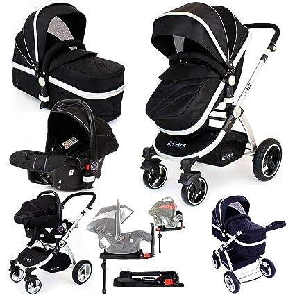 Cochecito de bebé 3 en 1 i-Safe con base iSOFIX, trío de ...